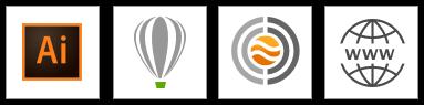 Compatible with Adobe Illustrator, CorelDraw, C-DESIGN Fashion, and All Web browser